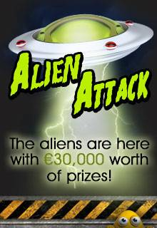 Out Of This World Prizes With Alien Attach Promotion