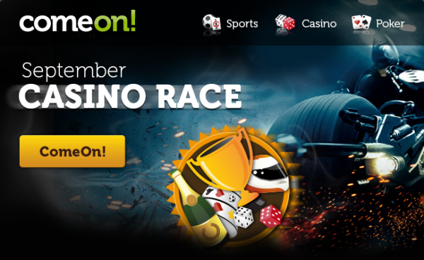 Free Spins And Cash Prizes In ComeOn's September Casino Race