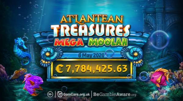 First €7.7 Million Mega Jackpot Win Recorded on Atlantean Treasures Mega Moolah