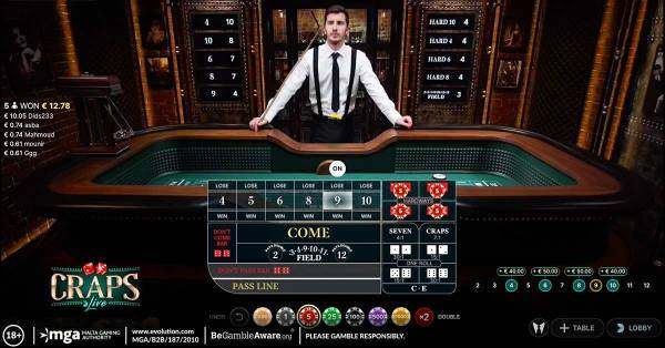 First-Ever Live Craps Now Available at Evolution Casinos Online