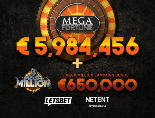 Lucky Player Hits €6m Mega Fortune Jackpot and Gets €650,000 Mega Million Bonus