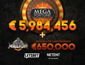 Lucky Player Hits €6m Mega Fortune Jackpot and Gets €650,000 Mega Million Bonus
